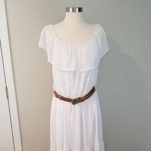 Mlle Gabrielle white gauzy dress plus size 3X